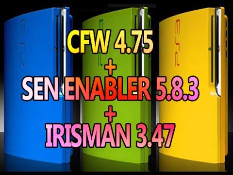 CFW 4.75 + SEN ENABLER 5.8.3 + IRISMAN 3.47 y Sigue Online – Julio 2015