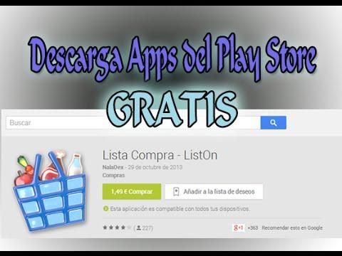 Descarga Apps de Pago del Play Store GRATIS 2014