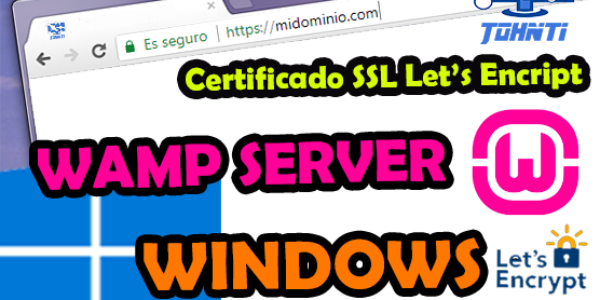 Como preparar una Web para instalar certificado SSL con Lets Encript y Wamp Server en Windows